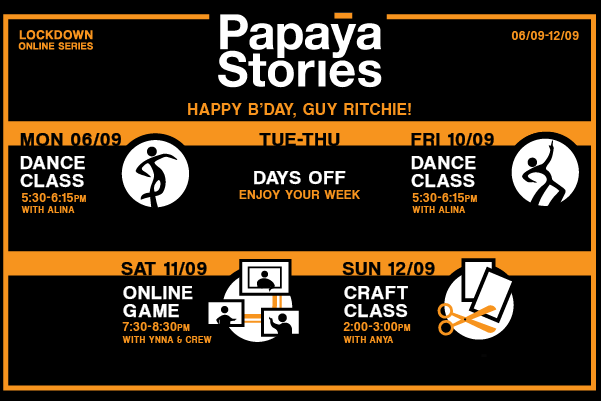lockdown fun events by papayas stories